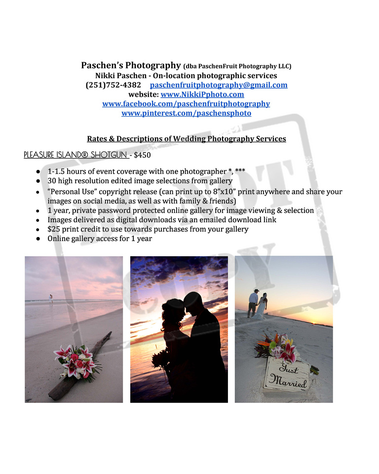 wedding photography pricing, beach wedding photography, wedding photography, affordable wedding photography, Alabama wedding photography